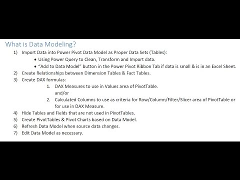 Highline Excel 2016 Class 22: How To Build Data Model & DAX Formulas in Power Pivot