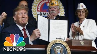 Donald Trump Signs Bill To 'Entirely Erase' Student Loan Debt Of Disabled Veterans | NBC News