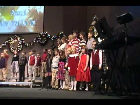 Sugar Hill Christian Academy children singing 2009 Christmas - 12/10/2011