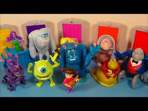2001 DISNEY'S MONSTERS INC. SET OF 10 McDONALD'S HAPPY MEAL MOVIE TOY'S VIDEO REVIEW