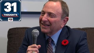 Gary Bettman on Playoff Expansion Rumours, Growing The Game and His HOF Induction | 31 Thoughts
