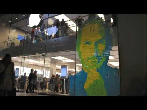 4001 post-its for Steve Jobs