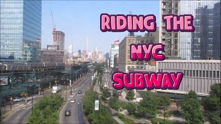 Riding The NYC Subway In Queens,Brooklyn & Manhattan (elevated & underground). - HD
