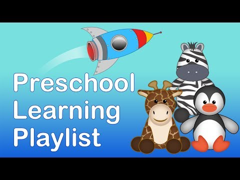 PRESCHOOL & KINDERGARTEN LEARNING PLAYLIST | 20 MINS LONG.Learning songs for babies and children.