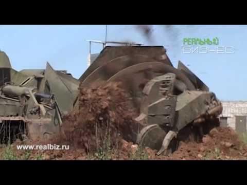 Землеройная Машина инженерного назначения МДК 3 и БАТ 2 в работе. Военная техника СССР.