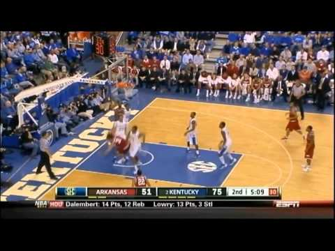 New Orleans Pelicans' Anthony Davis College Kentucky BLOCK Highlights!!