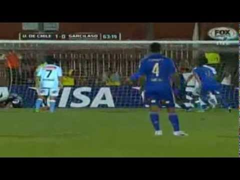 Gol de Johnny Herrera - U. de Chile vs R. Garcilaso 1-0 - CL 2014