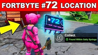 FOUND WITHIN SALTY SPRINGS - Fortnite Fortbyte #72 Location Guide