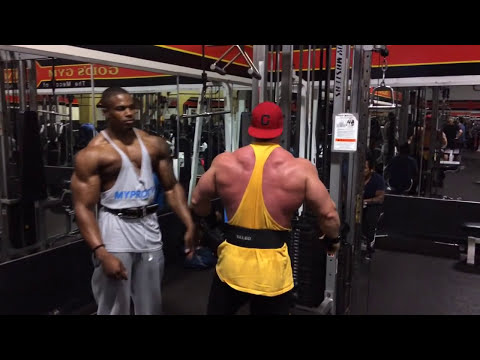 Simeon Panda & Joey Swoll - Beast Back at  Gold's Gym Venice