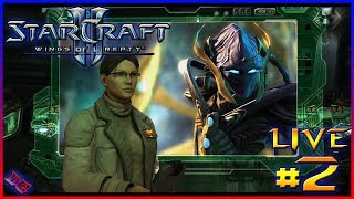 THE SWARM ADVANCES Starcraft 2 Wings of Liberty Gameplay Live PART 2