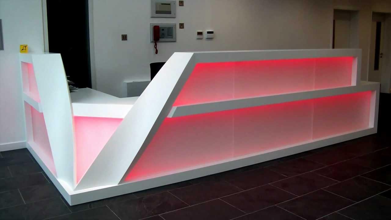 Led Backlit Reception Desk Youtube