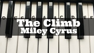 The Climb - Miley Cyrus | Easy Keyboard Tutorial With Notes (Right Hand)