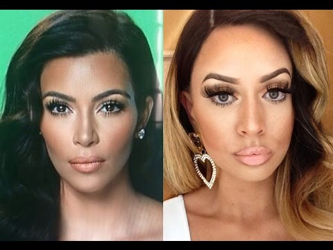 Kim Kardashian Makeup + Hair Tutorial Transformation!