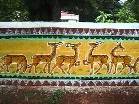 Wall Paintings Of Bhubaneswar Tribal Adivasi Art Patachitra Oriya Painting YouTube