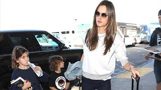 Alessandra Ambrosio And Her Little Ones Traveling For The Holidays