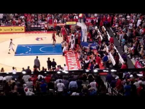Los Angeles Clippers Fans Wave then Matt Barnes and John Lucas III Tussle *LIVE* (alanly.com vlog)
