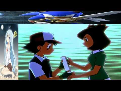 Pokemon. Latias da un beso a Ash