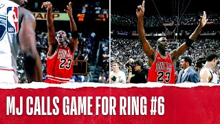 "Michael Jordan Clinches 6th Title With ""The Shot"" 