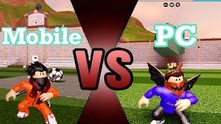 Mobile Vs Pc. YouTube! Roblox Jailbreak 1v1!