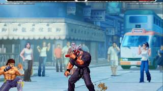 KOF-The Darkness Resurrection-Kenshiro vs Mr. Karate
