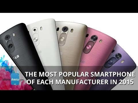 The most popular smartphone of each manufacturer in 2015