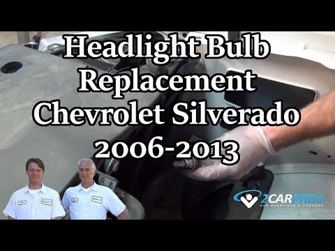Headlight Bulb Replacement Chevrolet Silverado 2006-2013