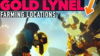 How to Beat and Farm Gold Lynels in Zelda Breath of The Wild