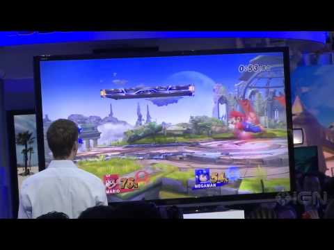 Super Smash Bros - Megaman Offscreen Gameplay E3 2013