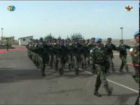 Indonesian Contingent Un-unifil  Medal Parade 2010 Cap 2 video