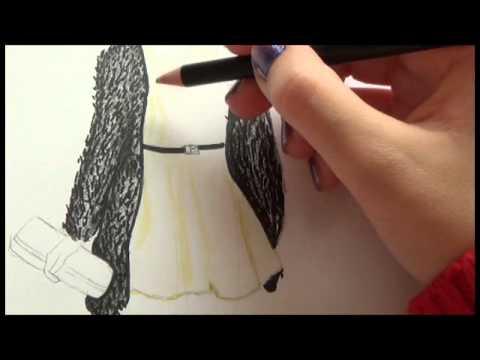 Tutorial Dibujo Top Model~Vestido nochevieja♥ - YouTube