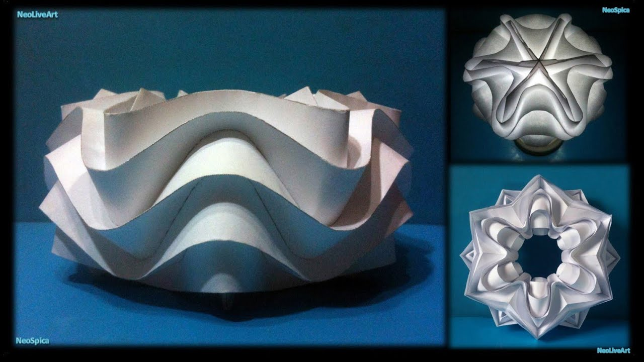 Curved Folding Paper Ball Cylinder Star Youtube