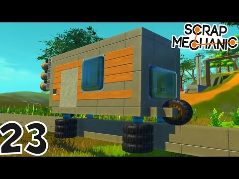 CONSTRUCTION D'UN TRAIN ! | Scrap Mechanic ! #Ep23
