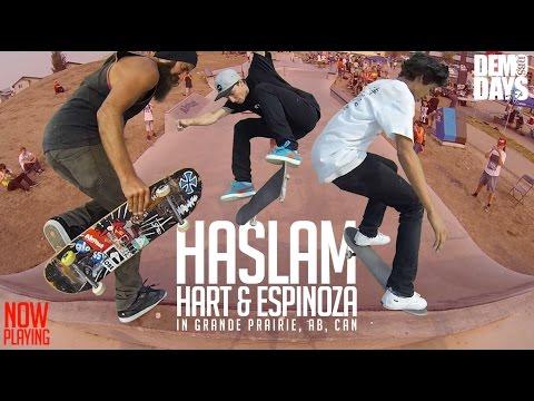 CHRIS HASLAM, DANIEL ESPINOZA AND PAUL HART AT S3 GRANDE PRAIRIE, CANADA - DEMO DAYS