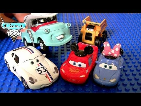 Fake Cars Herbie 53 VW Minnie Sally Knock-Off Apple Icar Colossus Mickey Lightning McQueen Pixar
