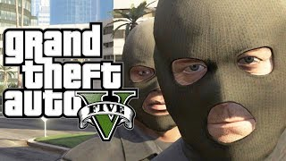 GTA 5 - How to ROB a BANK (Funny Moments Gameplay In GTA V) Fun Free Roam Stuff MONEY