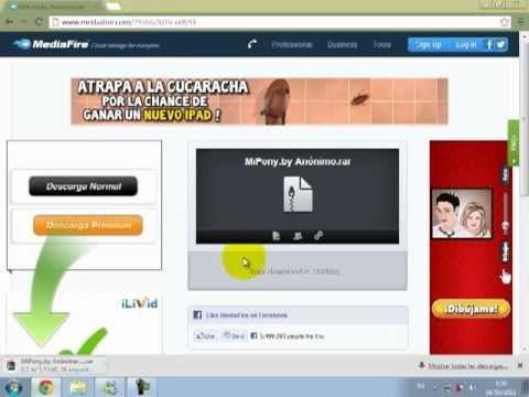 MiPony gestor de descargas, descargar y usar (Mediafire)