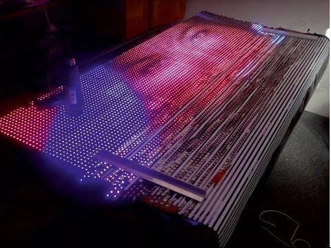 Экран из светодиодных лент своими руками 59