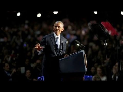 Obama talking to millennials in farewell speech?