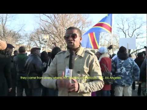 Why should congolese protest throughout the world?