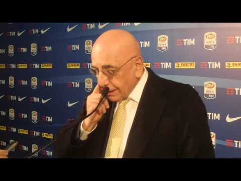 """Galliani: """"Due pedate nel sedere ad Armero. Terzo posto possibile"""""""