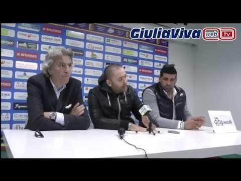 Domenica 26 ottobre 2014 Giulianova Civitanovese conferenza stampa dopo partita