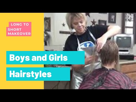 How To Cut Ladies Hair from Long Hair to Short Hair with Spiky Haircut