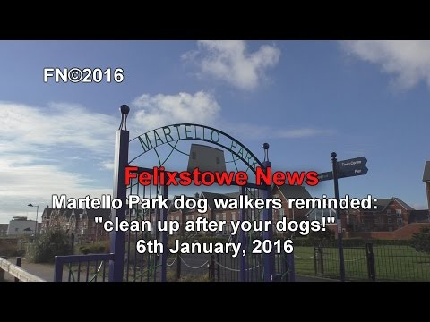 Martello Park dog-walkers urged: clean up after your dogs! 6 Jan 2016