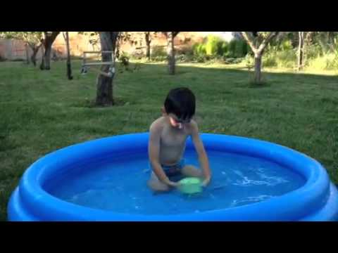 Child ASL Ice Bucket Challenge