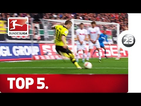 Top 5 Free Kicks - Marco Reus - Advent Calendar 2015 Number 23