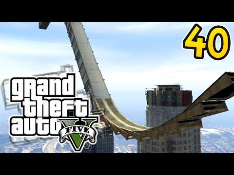 HUGE STUNT RAMPS! GTA 5 Online: Olli43 vs Geo23 - Episode 40