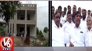 TRS MP Vinod Inspects Husnabad Double Bedroom Houses Construction