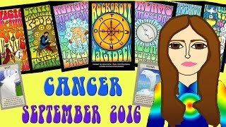 CANCER  SEPTEMBER  2016 Tarot psychic reading forecast predictions free