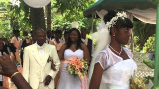 Haiti Wedding Ceremony Entrance