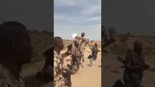 Gallant Nigerian soldiers praying in the battlefield. May God bless and protect them, Amen